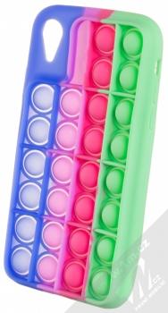 1Mcz Pop It antistresový ochranný kryt pro Apple iPhone XR modrá fialová zelená (blue purple green)