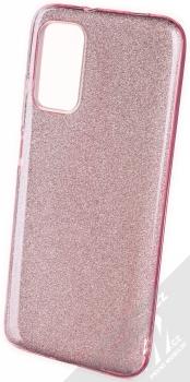 1Mcz Shining TPU třpytivý ochranný kryt pro Xiaomi Redmi 9T, Poco M3 růžová (pink)