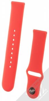 1Mcz Silikonový sportovní řemínek s univerzální osičkou 22mm červená (red)