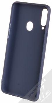 1Mcz Soft TPU ochranný kryt pro Samsung Galaxy A20s tmavě modrá (dark blue) zepředu