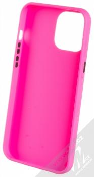 1Mcz Solid TPU ochranný kryt pro Apple iPhone 12 Pro Max sytě růžová (hot pink) zepředu