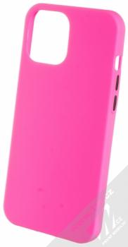 1Mcz Solid TPU ochranný kryt pro Apple iPhone 12 Pro Max sytě růžová (hot pink)