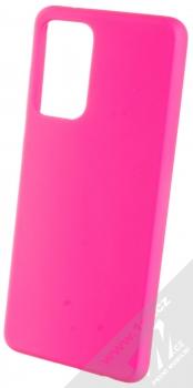 1Mcz Solid TPU ochranný kryt pro Samsung Galaxy A72, Galaxy A72 5G sytě růžová (hot pink)