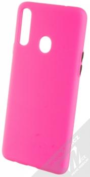 1Mcz Solid TPU ochranný kryt pro Samsung Galaxy A20s sytě růžová (hot pink)