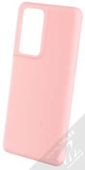1Mcz Solid TPU ochranný kryt pro Samsung Galaxy S21 Ultra světle růžová (light pink)