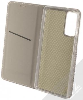 1Mcz Trendy Book Hora a zasněžený les 1 flipové pouzdro pro Samsung Galaxy S20 FE bílá (white) otevřené