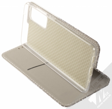 1Mcz Trendy Book Hora a zasněžený les 1 flipové pouzdro pro Samsung Galaxy S20 FE bílá (white) stojánek