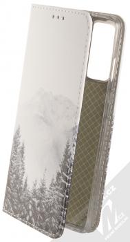 1Mcz Trendy Book Hora a zasněžený les 1 flipové pouzdro pro Samsung Galaxy S20 FE, Galaxy S20 FE 5G bílá (white)