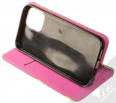 1Mcz Trendy Book Záhon ibišků v noční zahradě 1 flipové pouzdro pro Apple iPhone 12 Pro Max černá (black) stojánek