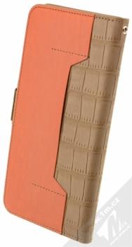 4smarts Ultimag Wallet Norwalk Croco do 5,8 univerzální flipové pouzdro hnědá (brown) zezadu