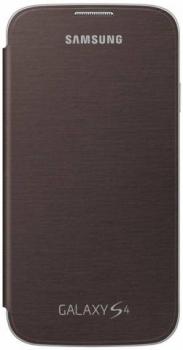 Samsung EF-FI950BA originální otvírací pouzdro pro Samsung i9500 Galaxy S IV, i9505 Galaxy S4, i9506 Galaxy S4 LTE-A hnědá (amber brown)