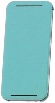 HTC HC V941 originální pevné pouzdro s flipem pro HTC One (M8), One M8s tyrkysová (atlantis green)