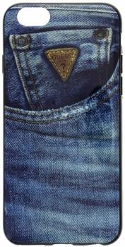 Guess Jeans TPU Case silikonový ochranný kryt pro Apple iPhone 6 (GUMHCP6DE) modrá (blue)