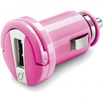 CellularLine Micro USB Smart nabíječka do auta s USB pink