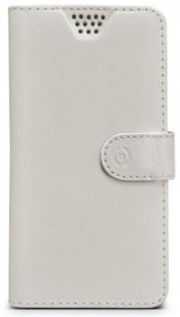Celly Wally Unica M univerzální flipové pouzdro pro mobilní telefon, mobil, smartphone bílá (white)