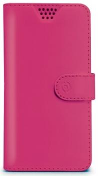 Celly Wally Unica XL univerzální flipové pouzdro pro mobilní telefon, mobil, smartphone růžová (fuchsia)