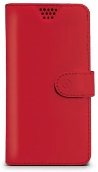 Celly Wally Unica M univerzální flipové pouzdro pro mobilní telefon, mobil, smartphone červená (red)