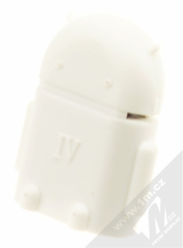 Aligator OTG redukce microUSB na USB - miniaturní Android robot bílá (white)