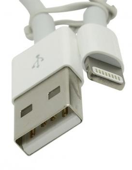 Apple MD819ZM/A originální USB kabel s Lightning konektorem pro Apple iPhone, iPad, iPod - délka 2 metry bílá (white) konektory detail
