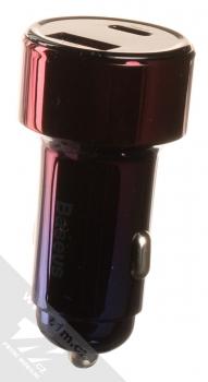 Baseus Magic Car Charger CCMLC20C-03 nabíječka do auta s 1x USB + 1x USB Type-C výstupy 45W a podporou PD a QC růžová modrá (pink blue)