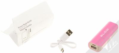 Blow PB11 PowerBank záložní zdroj 4000mAh pro mobilní telefon, mobil, smartphone, tablet růžová (pink) balení