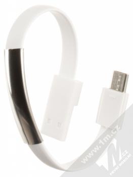 Blue Star Bracelet malý USB kabel s USB Type-C konektorem ve formě náramku na ruku bílá (white)