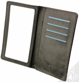 CellularLine Touch Wallet univerzální pouzdro s peneženkou pro mobilní telefon, mobil, smartphone černá (black) otevřené