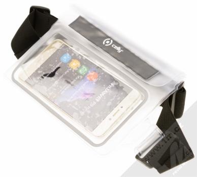 Celly Splash Belt vodotěsné sportovní pouzdro na pas pro mobilní telefon, mobil, smartphone do 5,7 s telefonem