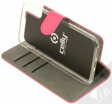 Celly Wally flipové pouzdro pro Apple iPhone X růžová (pink) stojánek
