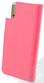Celly Wally flipové pouzdro pro Apple iPhone X růžová (pink) zezadu