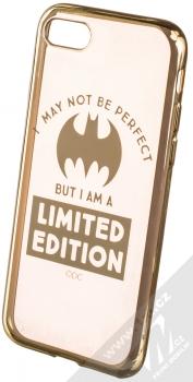 DC Comics Batgirl 005 TPU pokovený ochranný silikonový kryt s motivem pro Apple iPhone 7, iPhone 8 průhledná zlatá (transparent gold)