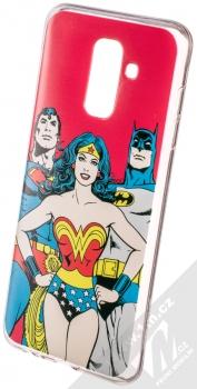 DC Comics Justice League 003 TPU ochranný silikonový kryt s motivem pro Samsung Galaxy A6 Plus (2018) červená (red)