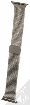 Devia Elegant Milanese Loop magnetický pásek z leštěného kovu na zápěstí pro Apple Watch 38mm, Watch 40mm stříbrná (silver)