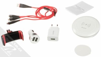 Devia Luxury Charging Suit nabíjecí set nabíječek, USB kabelů a držáku bílá (white) balení