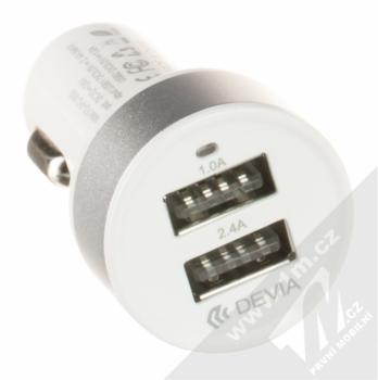 Devia Luxury Charging Suit nabíjecí set nabíječek, USB kabelů a držáku bílá (white) nabíječka do auta USB konektory