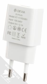 Devia Luxury Charging Suit nabíjecí set nabíječek, USB kabelů a držáku bílá (white) nabíječka do sítě zezadu
