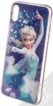 Disney Elsa 011 TPU ochranný silikonový kryt s motivem pro Apple iPhone XS Max modrá (blue)