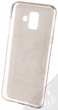 Disney Medvídek Pú a Prasátko 012 TPU ochranný silikonový kryt s motivem pro Samsung Galaxy A6 (2018) bílá (white) zepředu