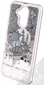 Disney Sand Medvídek Pú a Prasátko 008 ochranný kryt s přesýpacím efektem třpytek s motivem pro Huawei Mate 20 Lite průhledná stříbrná (transparent silver) animace 2