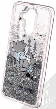 Disney Sand Medvídek Pú a Prasátko 008 ochranný kryt s přesýpacím efektem třpytek s motivem pro Huawei Mate 20 Lite průhledná stříbrná (transparent silver) animace 5
