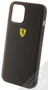 Ferrari Scuderia Perforated Leather ochranný kryt pro Apple iPhone 12 Pro Max (FESPEHCP12LBK) černá (black)