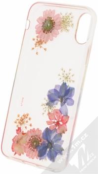 Flavr iPlate Real Flowers Amelia ochranný kryt s pravými květy pro Apple iPhone X průhledná (transparent) zepředu