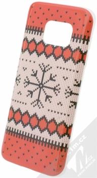 Flavr Ugly Xmas Sweater ochranný kryt s motivem pleteného svetru pro Samsung Galaxy S7 červená (red)