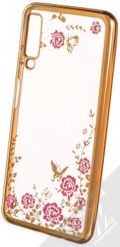 Forcell Diamond Flower TPU ochranný kryt pro Samsung Galaxy A7 (2018) zlatá (gold)