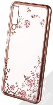 Forcell Diamond TPU ochranný kryt pro Samsung Galaxy A7 (2018) růžově zlatá (rose gold)