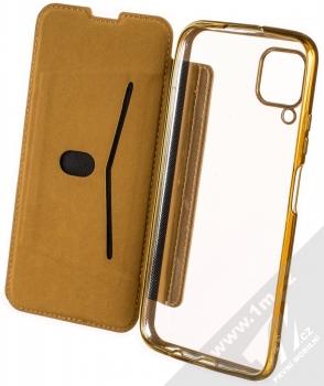 Forcell Electro Book flipové pouzdro pro Huawei P40 Lite zlatá (gold) otevřené