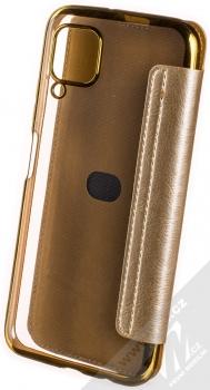 Forcell Electro Book flipové pouzdro pro Huawei P40 Lite zlatá (gold) zezadu