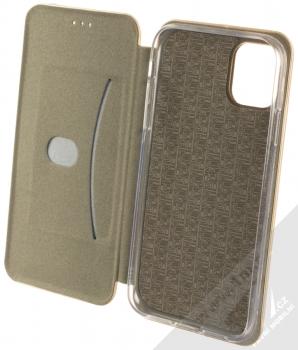 Forcell Elegance Book flipové pouzdro pro Apple iPhone 11 zlatá (gold) otevřené