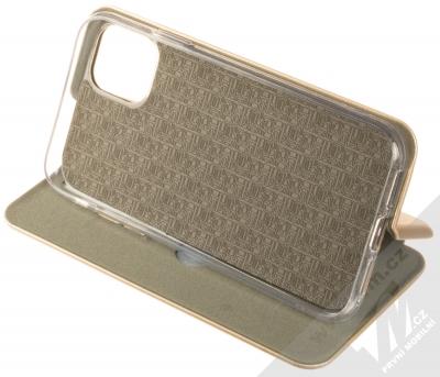 Forcell Elegance Book flipové pouzdro pro Apple iPhone 11 zlatá (gold) stojánek