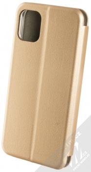 Forcell Elegance Book flipové pouzdro pro Apple iPhone 11 zlatá (gold) zezadu